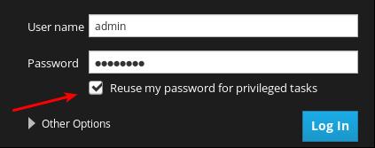 cockpit login reuse password enabled