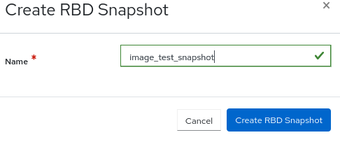Creating snapshot of images