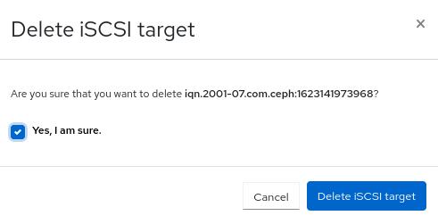 Delete iSCSI target