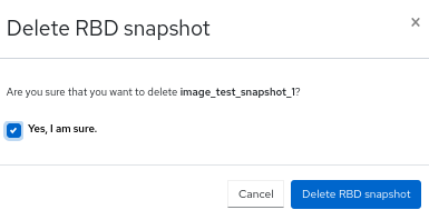 Deleting snapshot of images