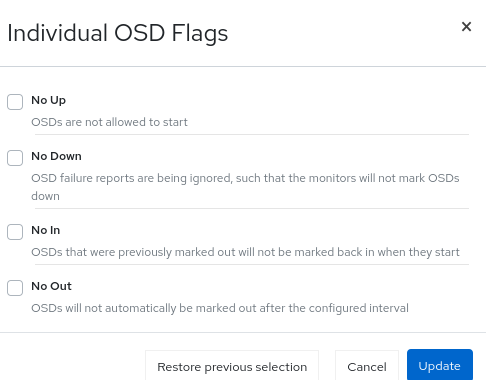 Marking Flags of an OSD