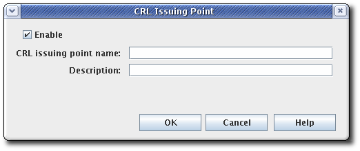 CRL Issuing Point Editor