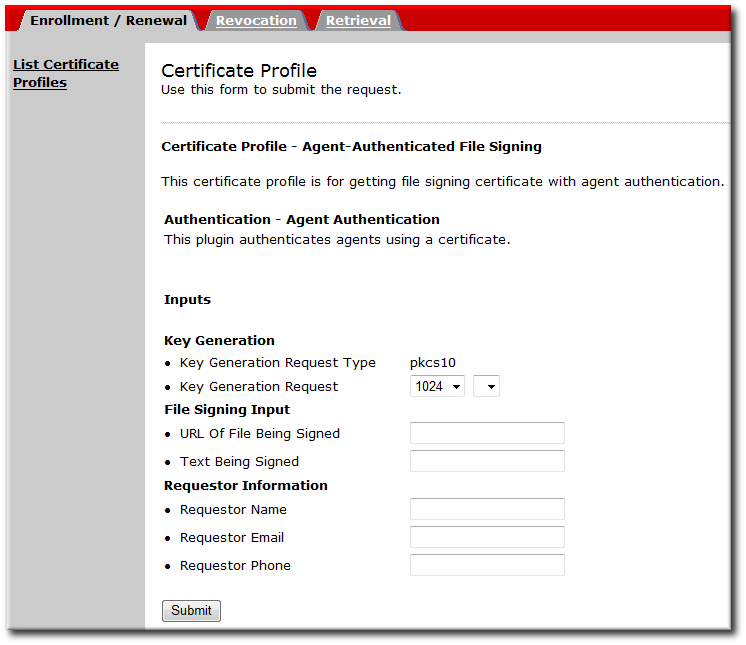 File-Signing Profile
