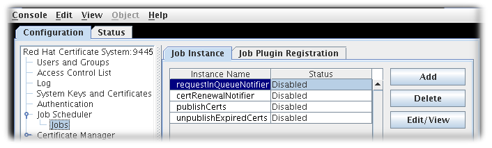 11.3. Setting up Specific Jobs - Red Hat Customer Portal
