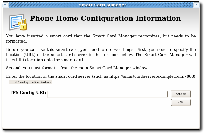 Prompt for Phone Home Information