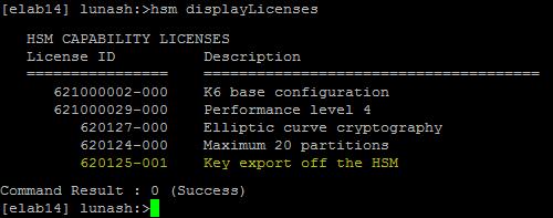 Example of a Key Export Model