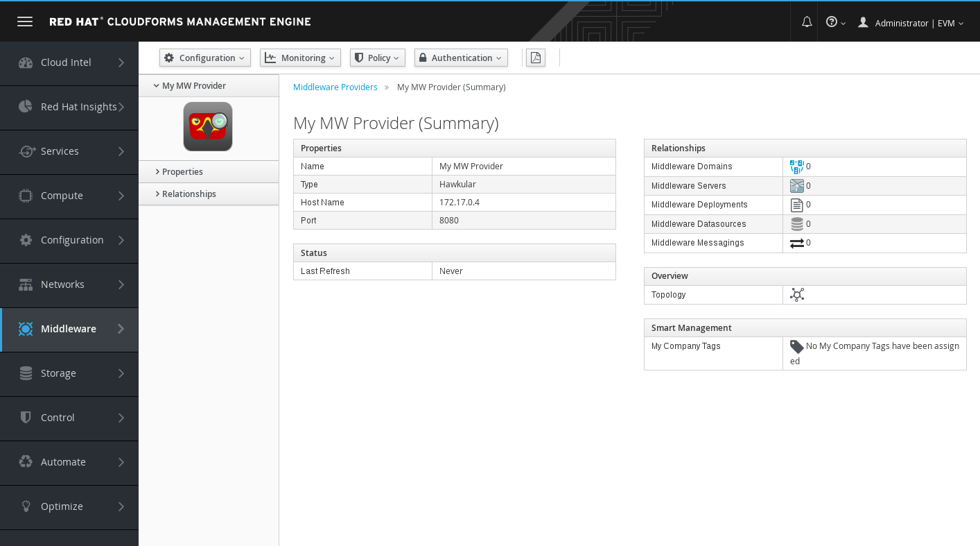 Provider Summary Screen