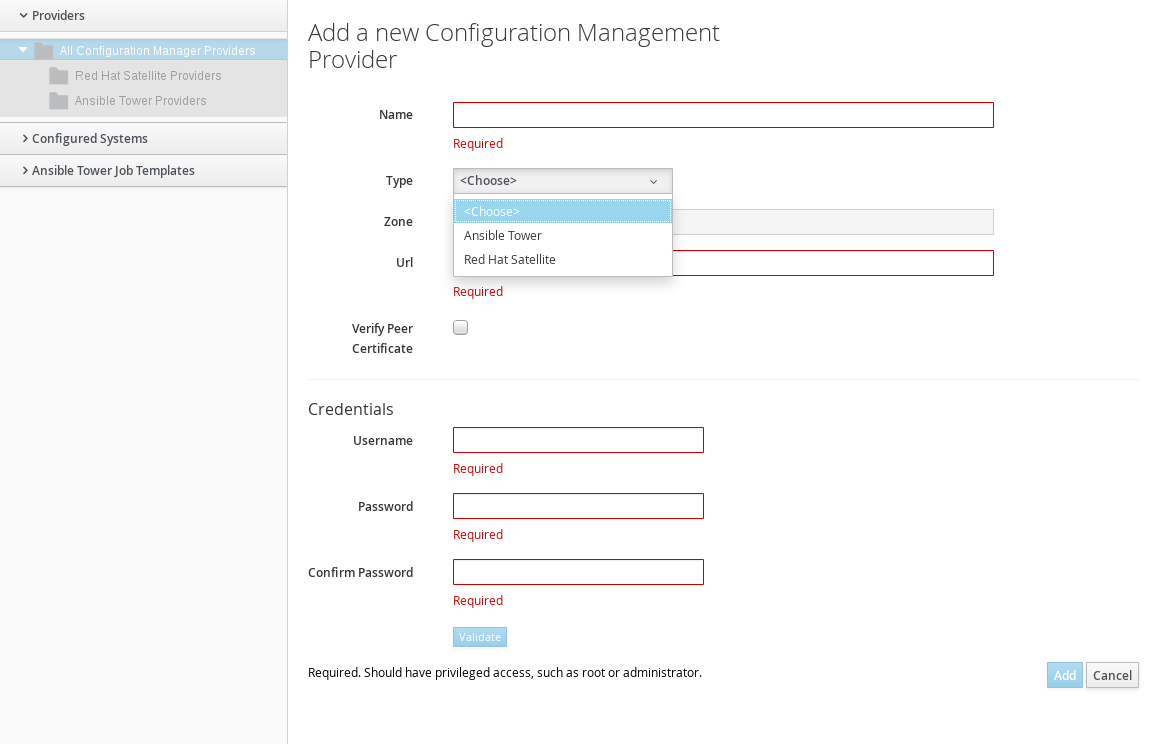 Chapter 3  Automation Management Providers - Red Hat Customer Portal