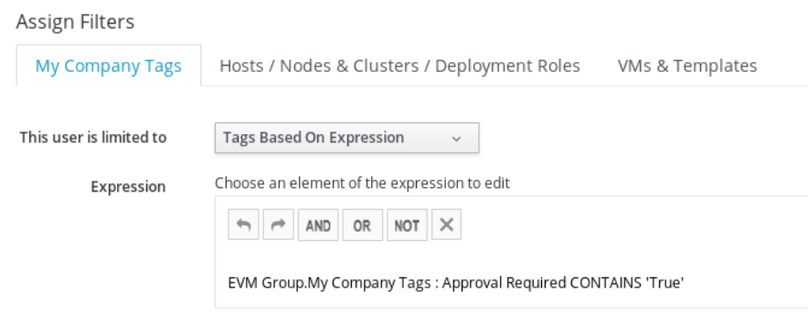 tag expression editor