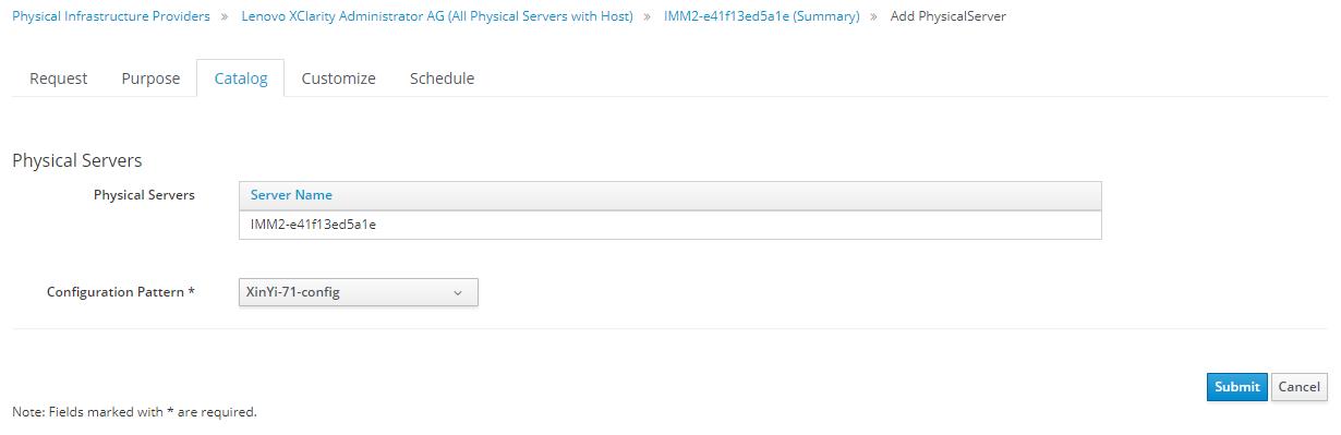 physical server provision