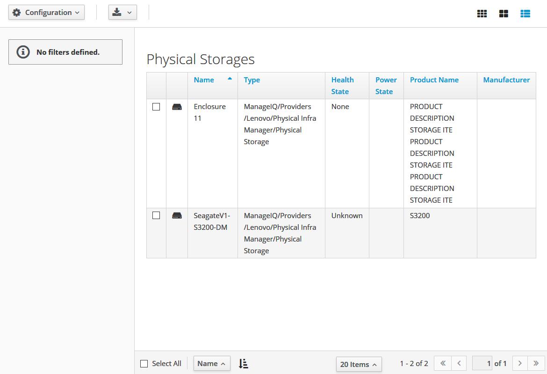 physical storage