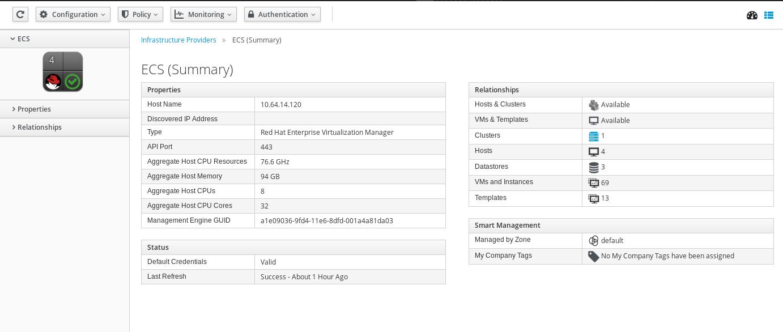providers summary screen