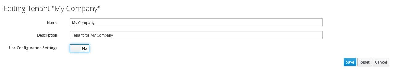 use configuration settings