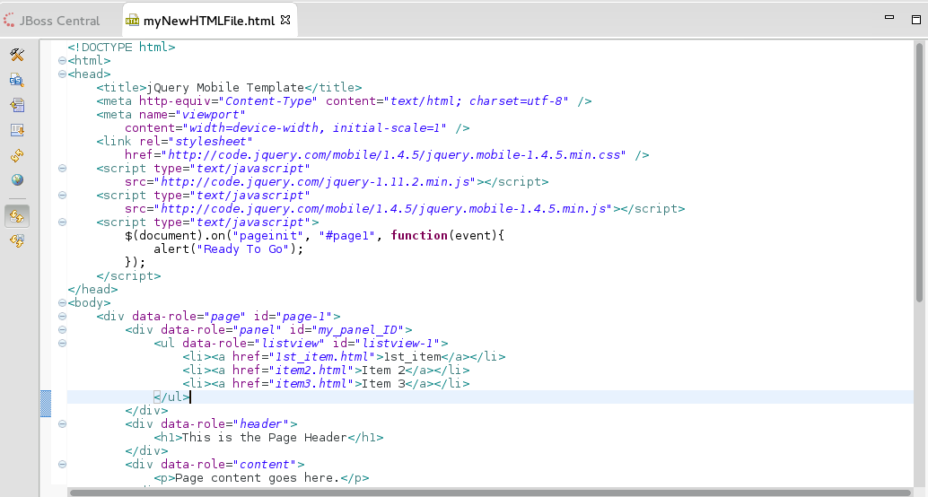 Code for the New Listitem in the Panel Added