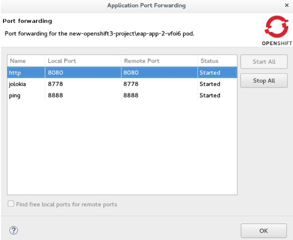 Start Port Forwarding
