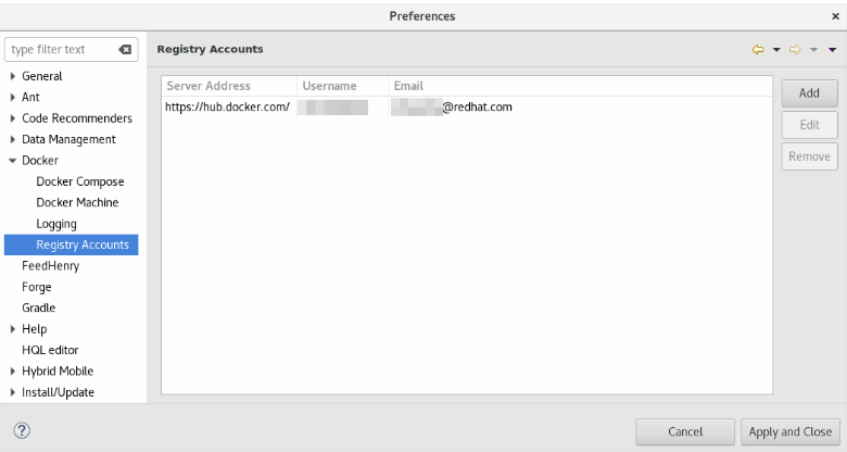 Creating a New Registry Account