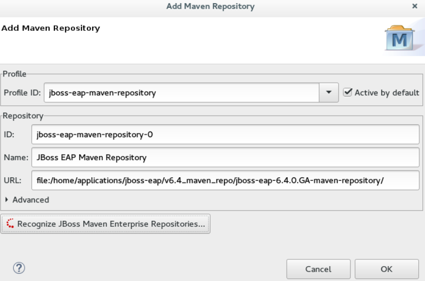 Details of the Selected Maven Repository