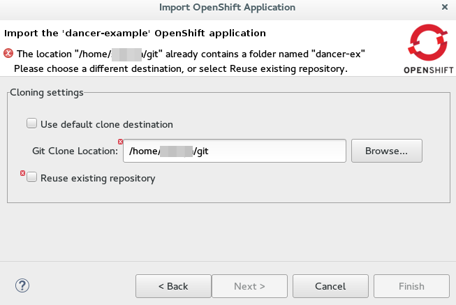 Git clone location reuse
