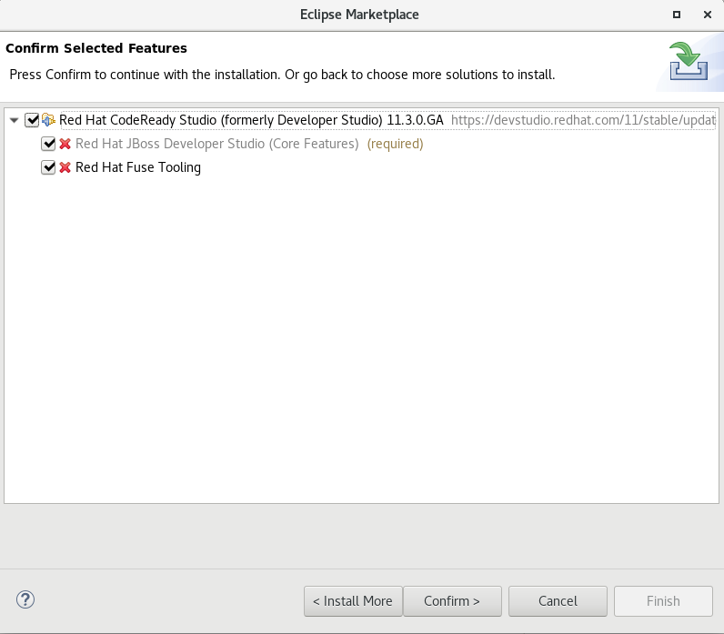 Confirm Selected Feature Deletion