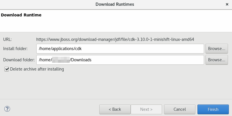 Downloading the CDK Runtime