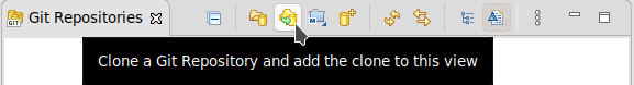 Clone a Git Repository and add the clone to this view icon