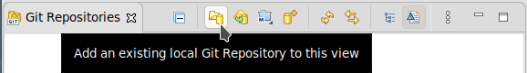 Click the Add an existing local Git Repository icon