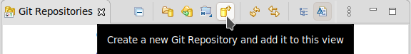 Click the Create a new Git Repository button