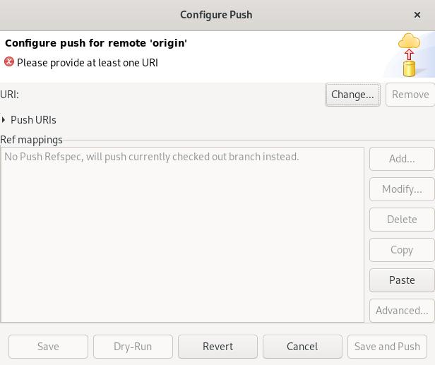 crs configure push window