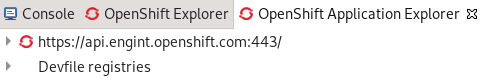 crs devfile registries node