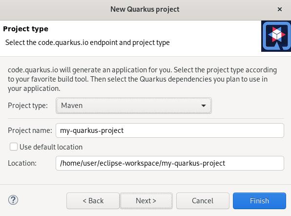 crs quarkus project creation