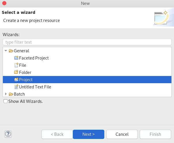 crs create empty project in pe 1
