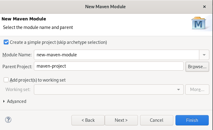 crs creating a new maven module