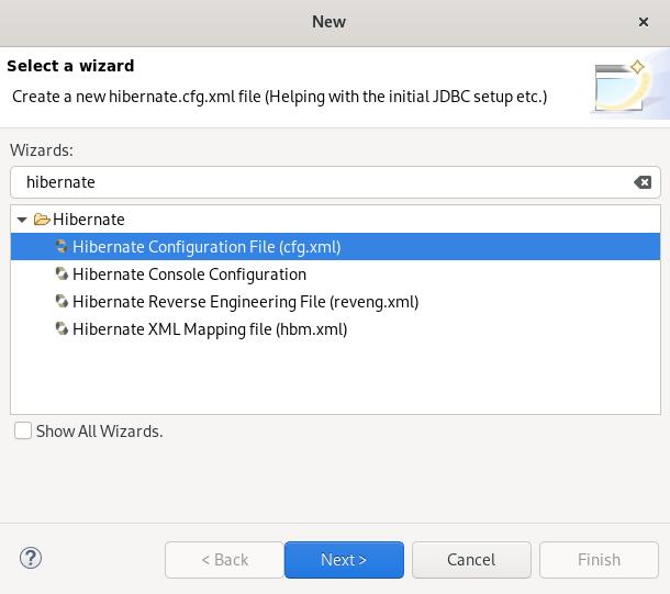 crs creating hibernate config file