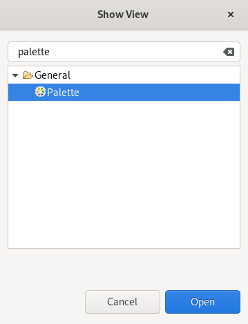 crs selecting palette view