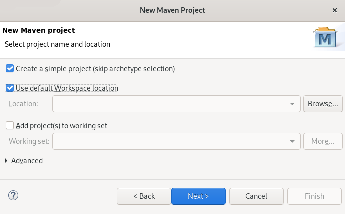 crs creation of maven project