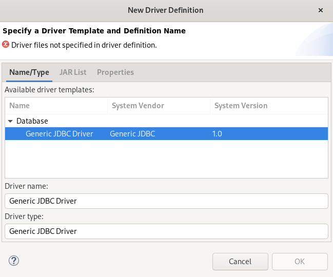 crs specifying new driver definition