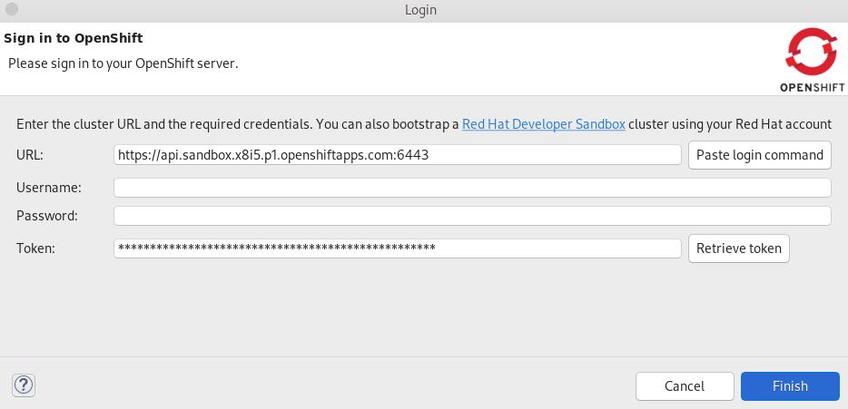 crs developer sandbox token displayed
