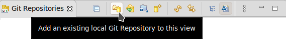 crs git perspective add a local git repo