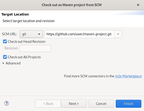 crs importing remote maven project