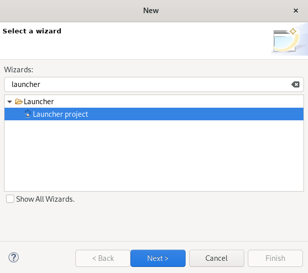 crs launcher project wizard