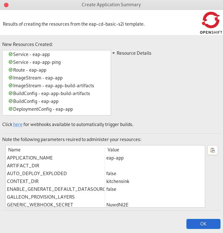 crs create application summary