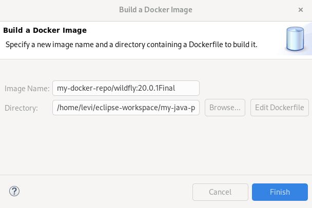 crs building a docker image