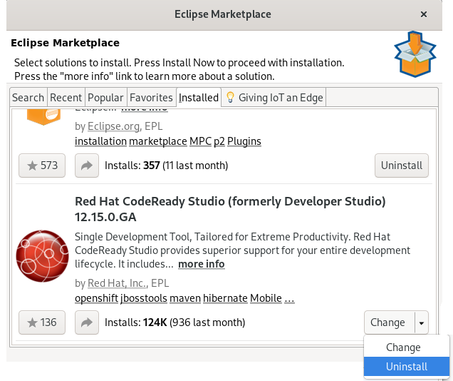 crs uninstall from eclipse