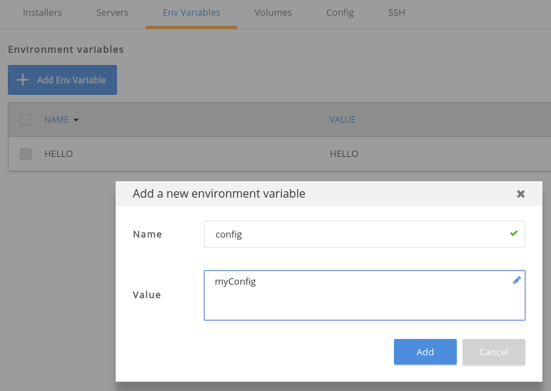 env variable