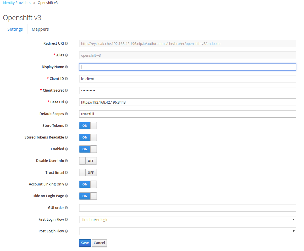 openshift identity provider