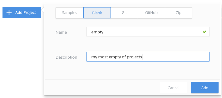 Add blank project