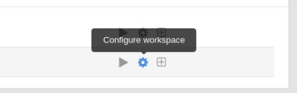 configure workspace button