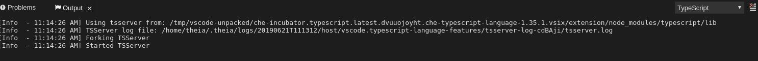 finding the typescript language server log