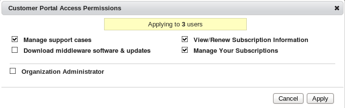 Changing Access Permissions for Multiple Users
