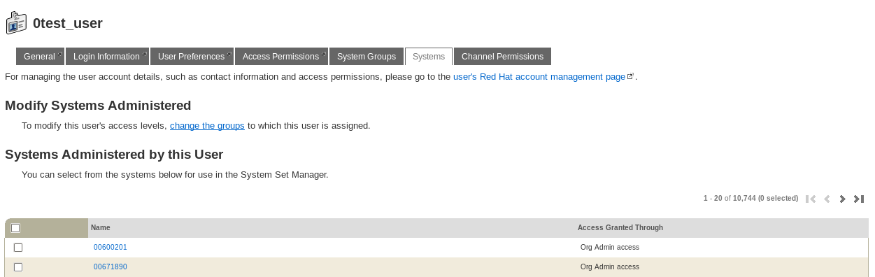 Changing a User's Assigned Systems